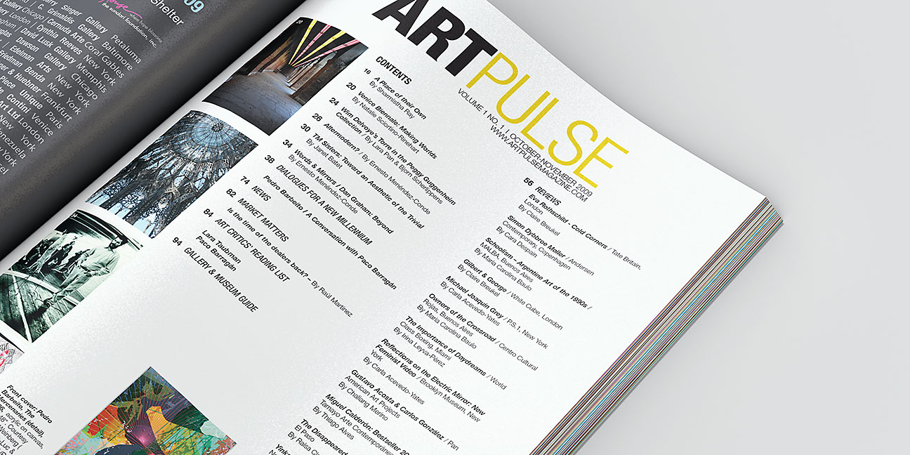 Art Pulse - Magazine TOC